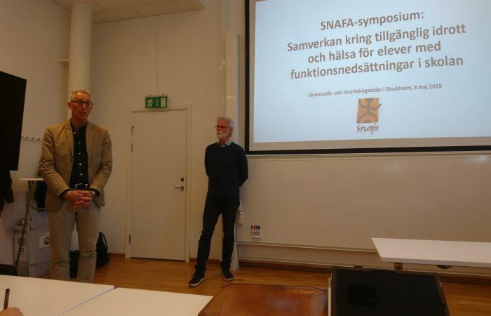 GIH:s rektor, Per Nilsson, öppnade SNAFA-symposiumet