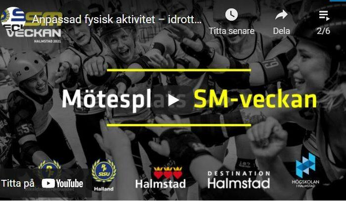 Seminarium om Anpassad fysisk aktivitet på SM-Veckan – idrottens betydelse för personer med funktionsnedsättning